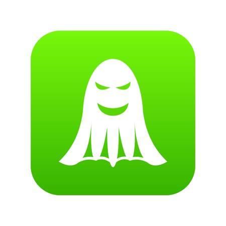 Ghost icon digital green