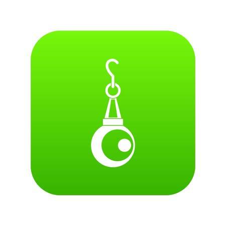 Beauty pearl pendant icon digital green