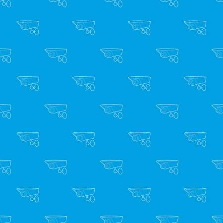 Security camera pattern vector seamless blue