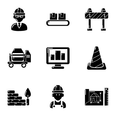 Premise icons set, simple style
