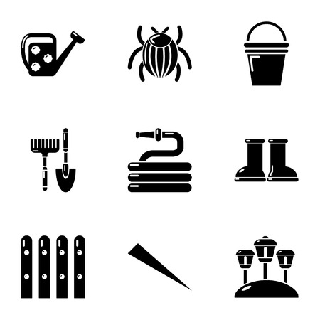 Ennoble home icons set, simple style