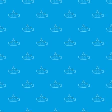 Submarine pattern vector seamless blue Illustration