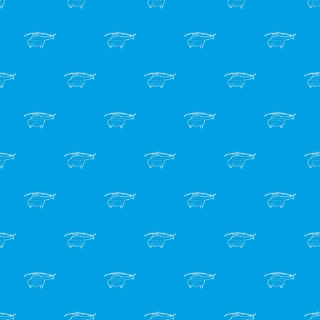 Helicopter pattern vector seamless blue