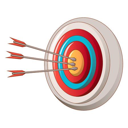 Arch target icon, cartoon style Ilustrace