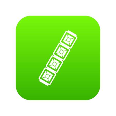 Jewelry chain icon digital green