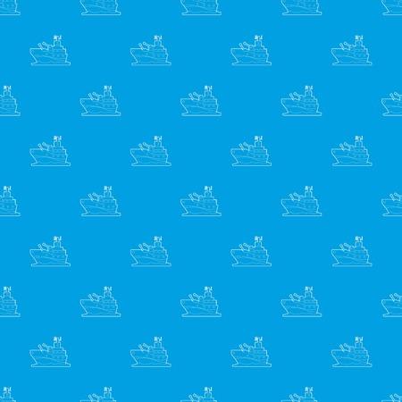 Battleship pattern vector seamless blue