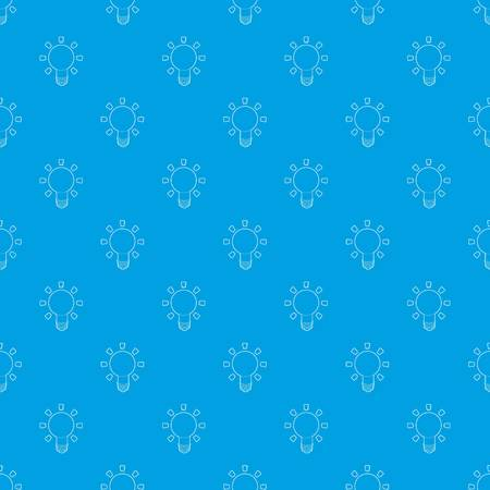 Lamp pattern vector seamless blue