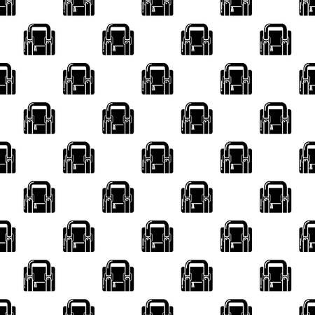 Travel bag retro icon, simple black style
