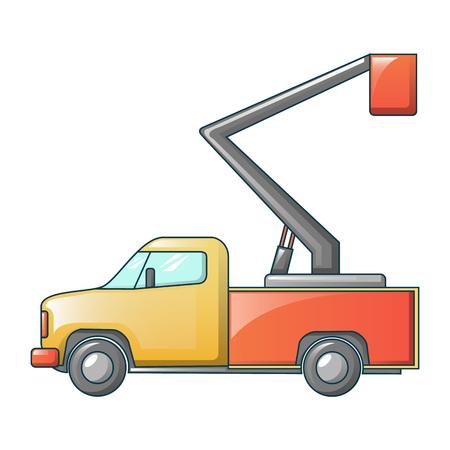 truck crane icon, cartoon style