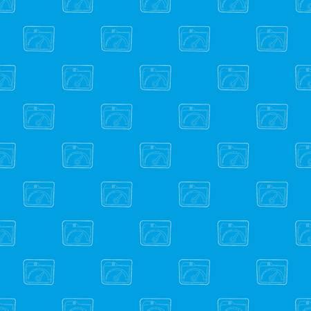 Indicator pattern vector seamless blue Stock Vector - 102523848
