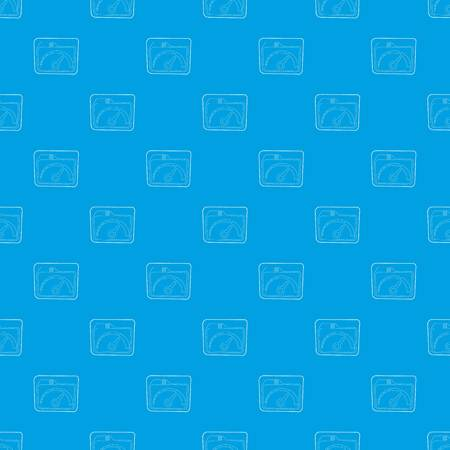 Indicator pattern vector seamless blue