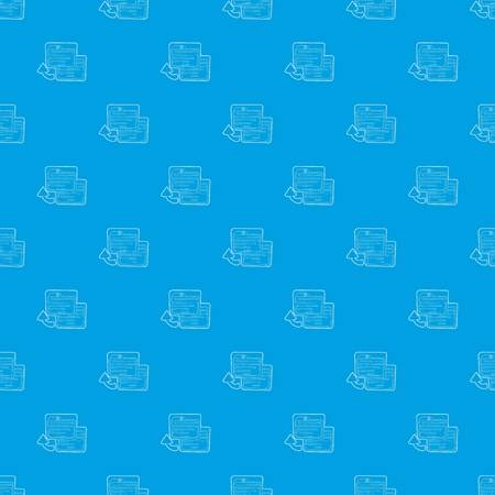 Business card pattern vector seamless blue