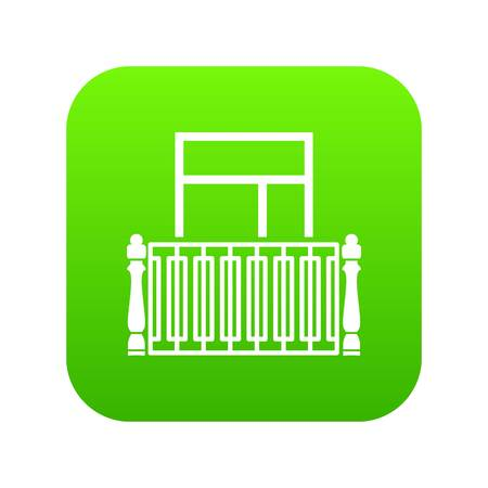 Square balcony icon, simple style Illustration