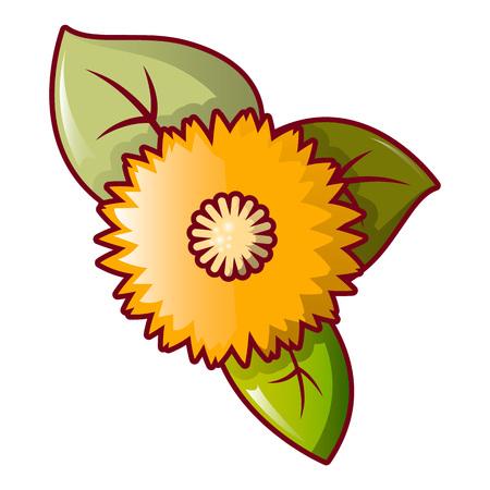 Honey flower icon. Cartoon of honey flower vector icon for web design isolated on white background