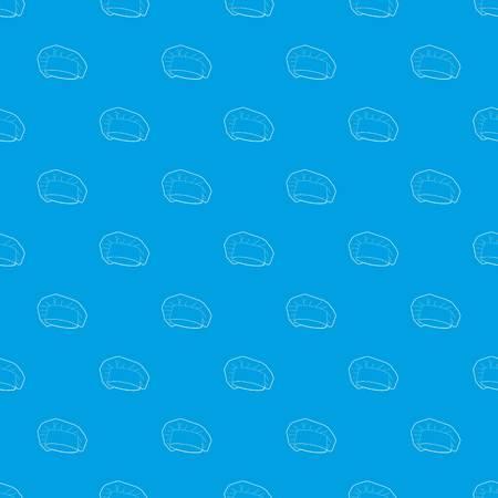 Chef cap pattern vector seamless blue 일러스트