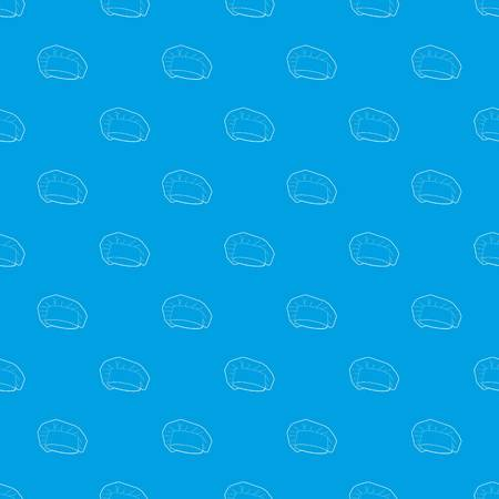 Chef cap pattern vector seamless blue Ilustrace