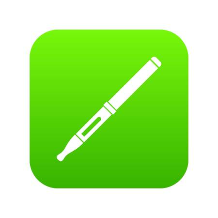Mod and clearomizer in the kit icon digital green Illustration