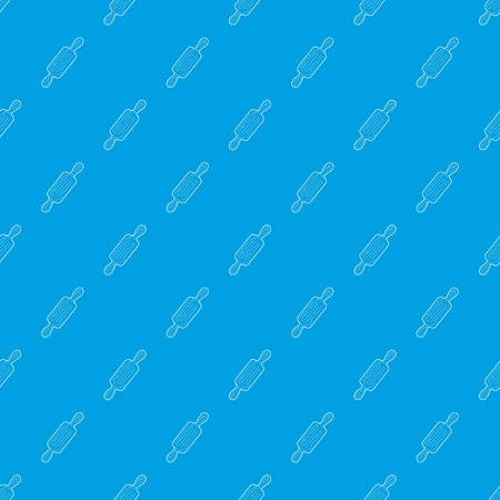 Rolling pin pattern vector seamless blue Illustration