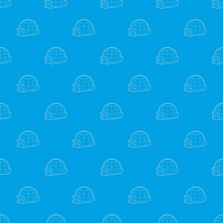 Igloo pattern vector seamless blue
