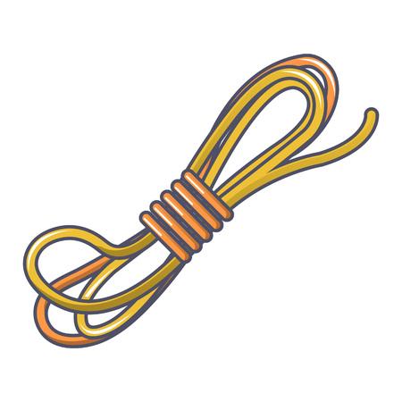 Rope icon, cartoon style
