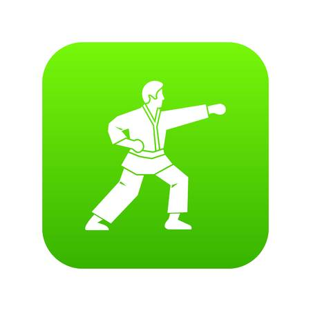 Aikido fighter icon digital green