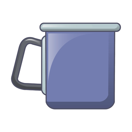 Camp steel cup icon, cartoon style