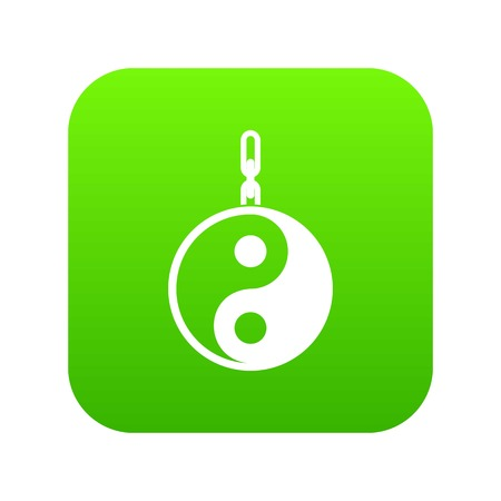 Sign yin yang icon digital green