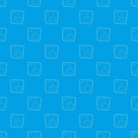 Handicap parking or wheelchair parking pattern vector seamless blue Illustration