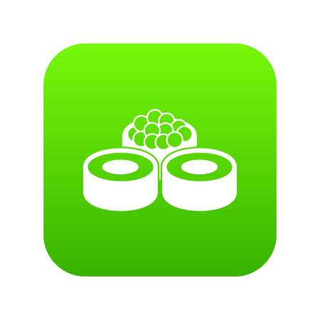 Sushi icon digital green Vettoriali