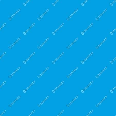 Musical pipe pattern vector seamless blue