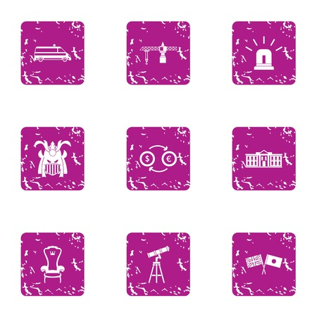 International icons set, grunge style Фото со стока - 102547008