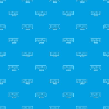 Xylophone pattern vector seamless blue