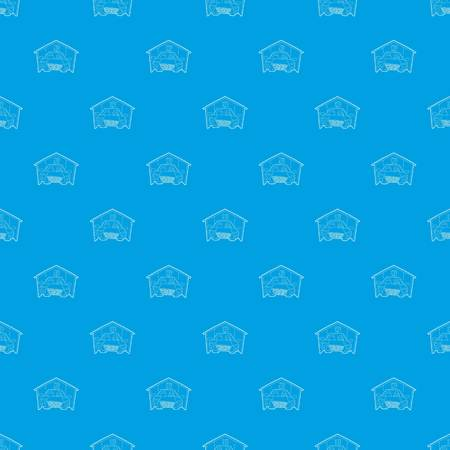 Overdekte parkeerplaats patroon vector naadloze blauw