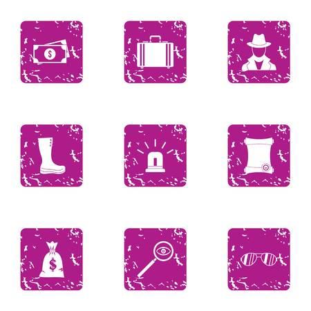 Insignificant money icons set. Grunge set of 9 insignificant money vector icons for web isolated on white background