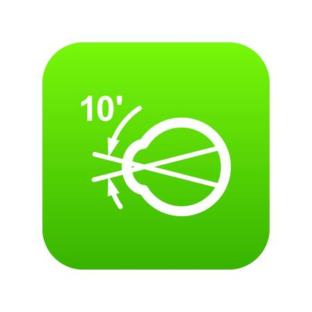Vision angle icon. Simple illustration of vision angle vector icon for web Standard-Bild - 102670994