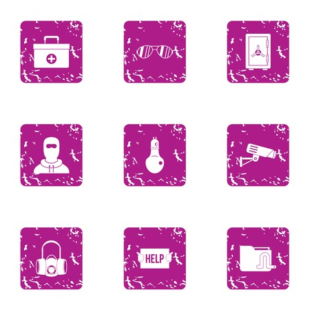 Help cure icons set. Grunge set of 9 help cure vector icons for web isolated on white background