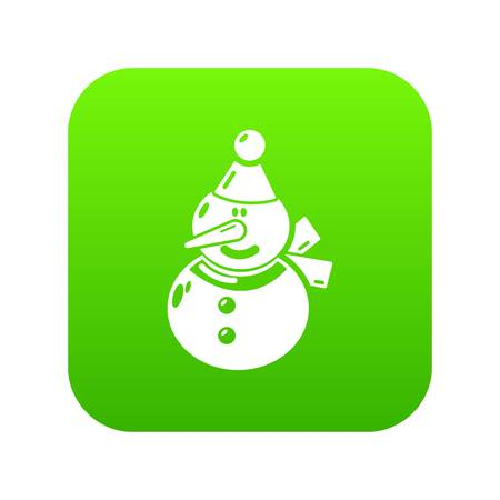Snowman icon. Simple illustration of snowman vector icon for web