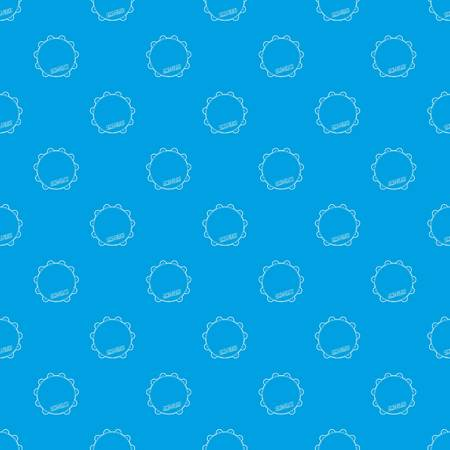 Tambourine pattern vector seamless blue repeat for any use