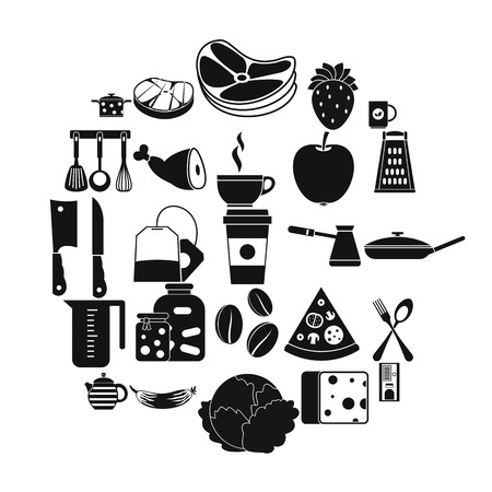 Culinary icons set. Simple set of 25 culinary vector icons for web isolated on white background