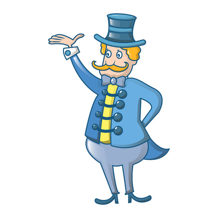 Circus man icon. Cartoon of circus man vector icon for web design isolated on white background Illustration
