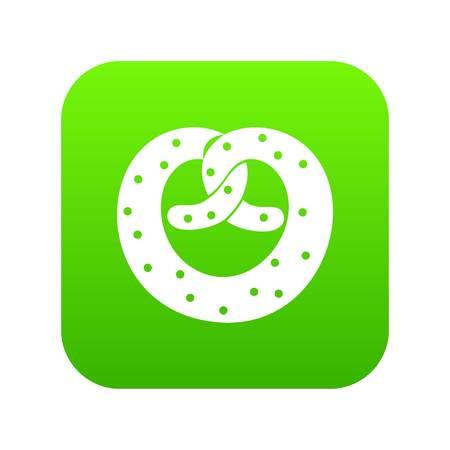 Pretzels icon digital green for any design isolated on white vector illustration Vettoriali