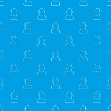Priest pattern vector seamless blue repeat for any use
