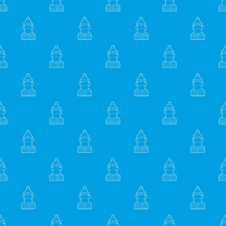 Lumberjack pattern vector seamless blue repeat for any use