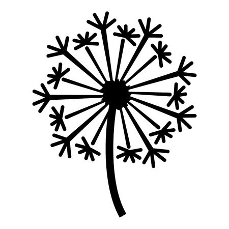 Dandelion icon, simple style 向量圖像