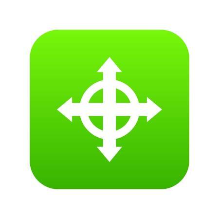 Arrows target icon digital green