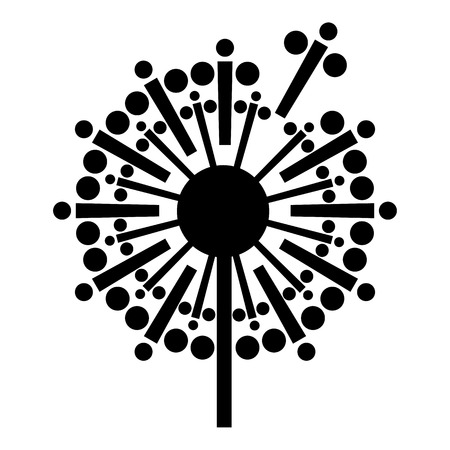 Abstract dandelion icon, simple style Illustration