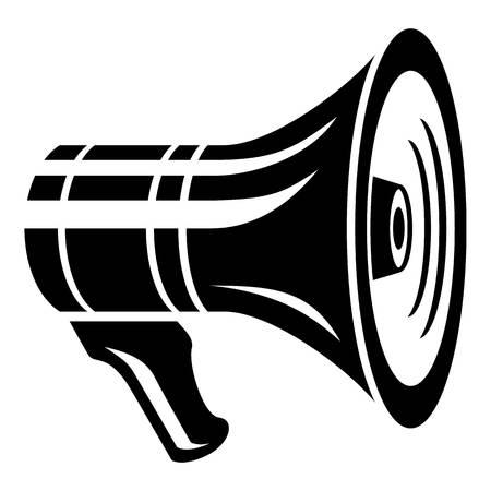 Media loudspeaker icon, simple style