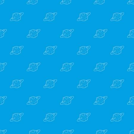 Earth planet pattern vector seamless blue