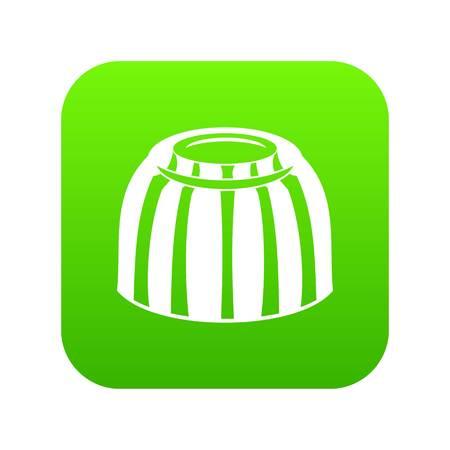 Fruit jelly icon digital green Ilustração