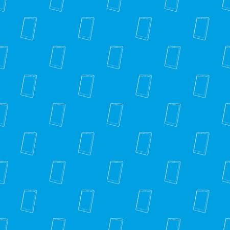 Tablet computer pattern vector seamless blue